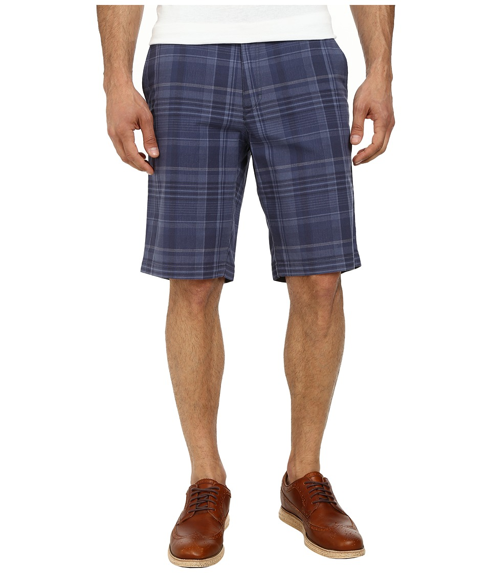 Calvin Klein - Slub Multi Plaid Shorts (Knight Blue) Men's Shorts