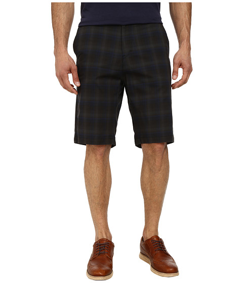 Calvin Klein - Slub Shadow Plaid Shorts (Carbon) Men