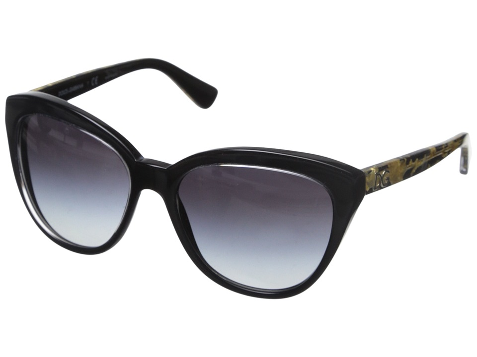 Dolce & Gabbana - DG4250 (Crystal Black/Grey Gradient) Fashion Sunglasses