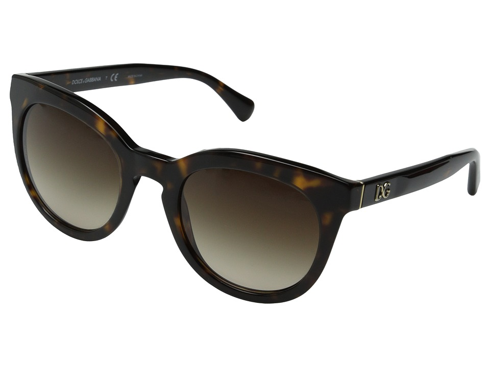 Dolce & Gabbana - DG4249 (Havana/Brown Gradient) Fashion Sunglasses
