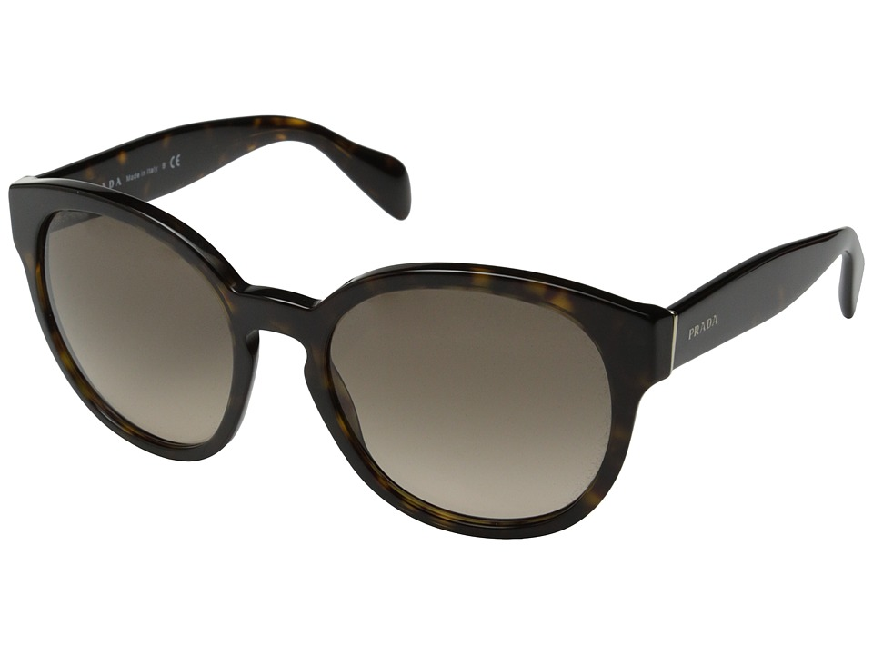 Prada - PR 18RS (Havana/Light Brown Gradient) Fashion Sunglasses