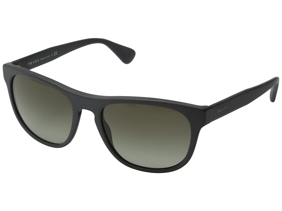 Prada - PR 14RS (Matte Grey/Brown Gradient) Fashion Sunglasses