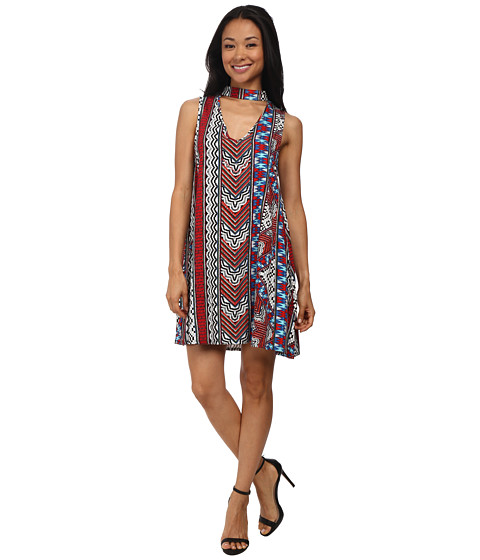 MINKPINK - Aztec Island Swing Dress Cover-Up (Multi) Women's Swimwear