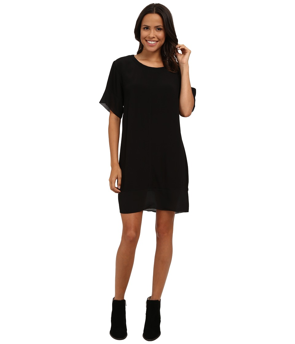 MINKPINK - Blank Space Tee Dress (Black/Natural) Women's Dress