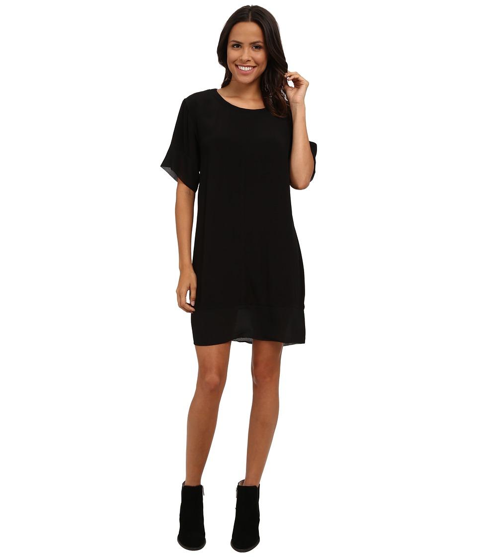 MINKPINK - Blank Space Tee Dress (Black/Natural) Women's Dress