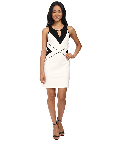 MINKPINK - Thinking Out Loud Dress (White/Black) Women's Dress