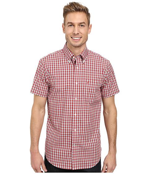 Nautica - Short Sleeve Small Plaid (True Red) Men