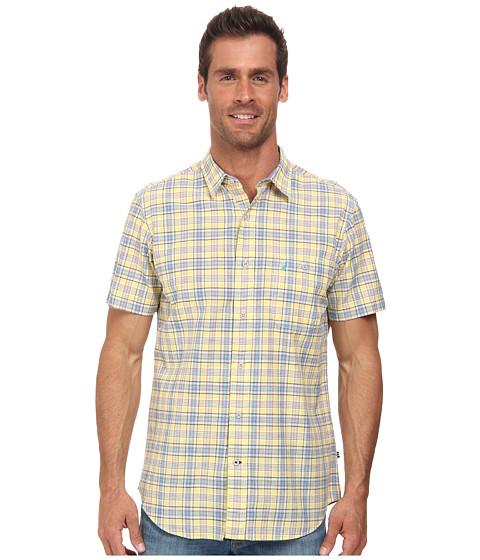 Nautica - Short Sleeve Medium Plaid (Snap Dragon) Men's Short Sleeve Button Up