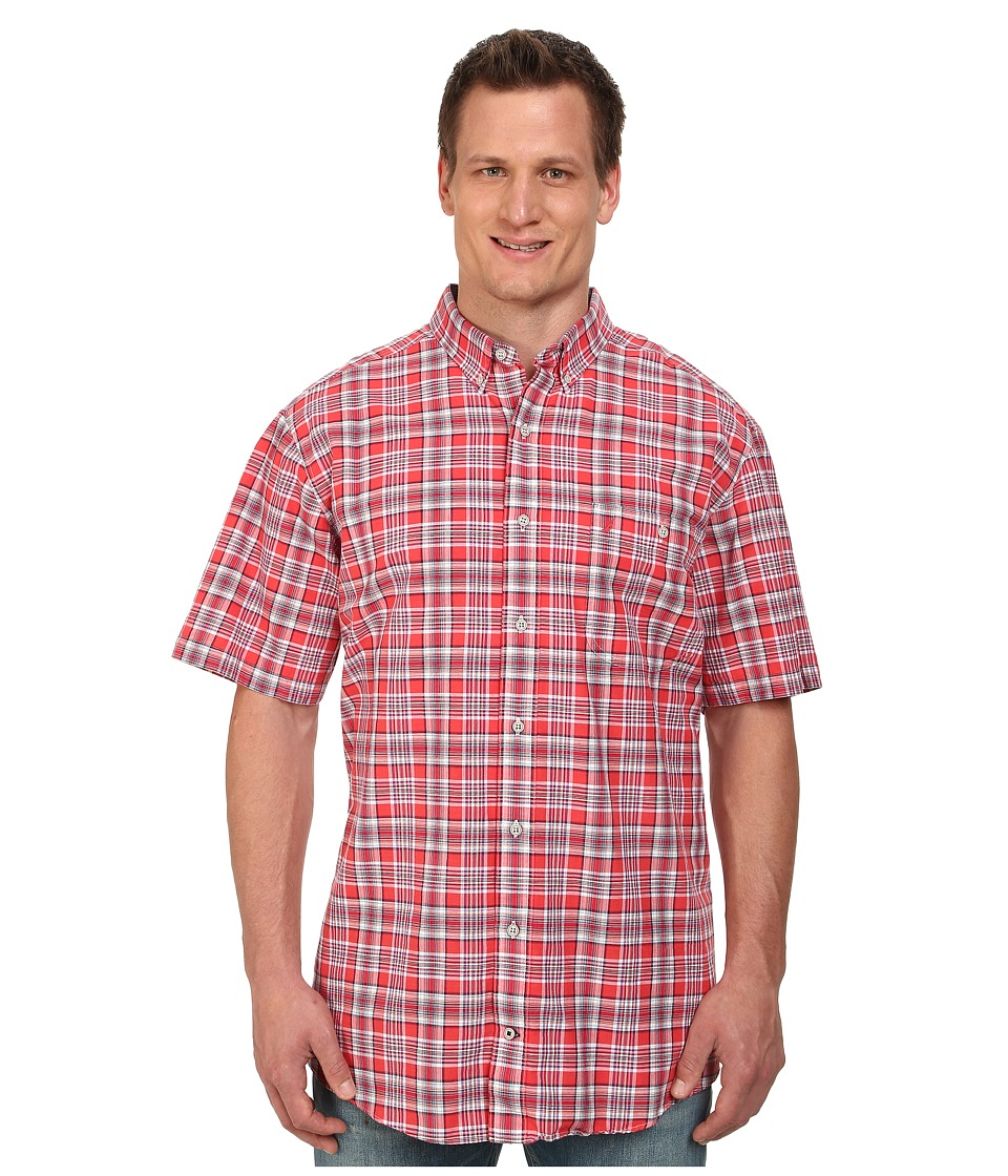 Nautica Big & Tall - Big Tall Short Sleeve Med Plaid (Bittersweet) Men