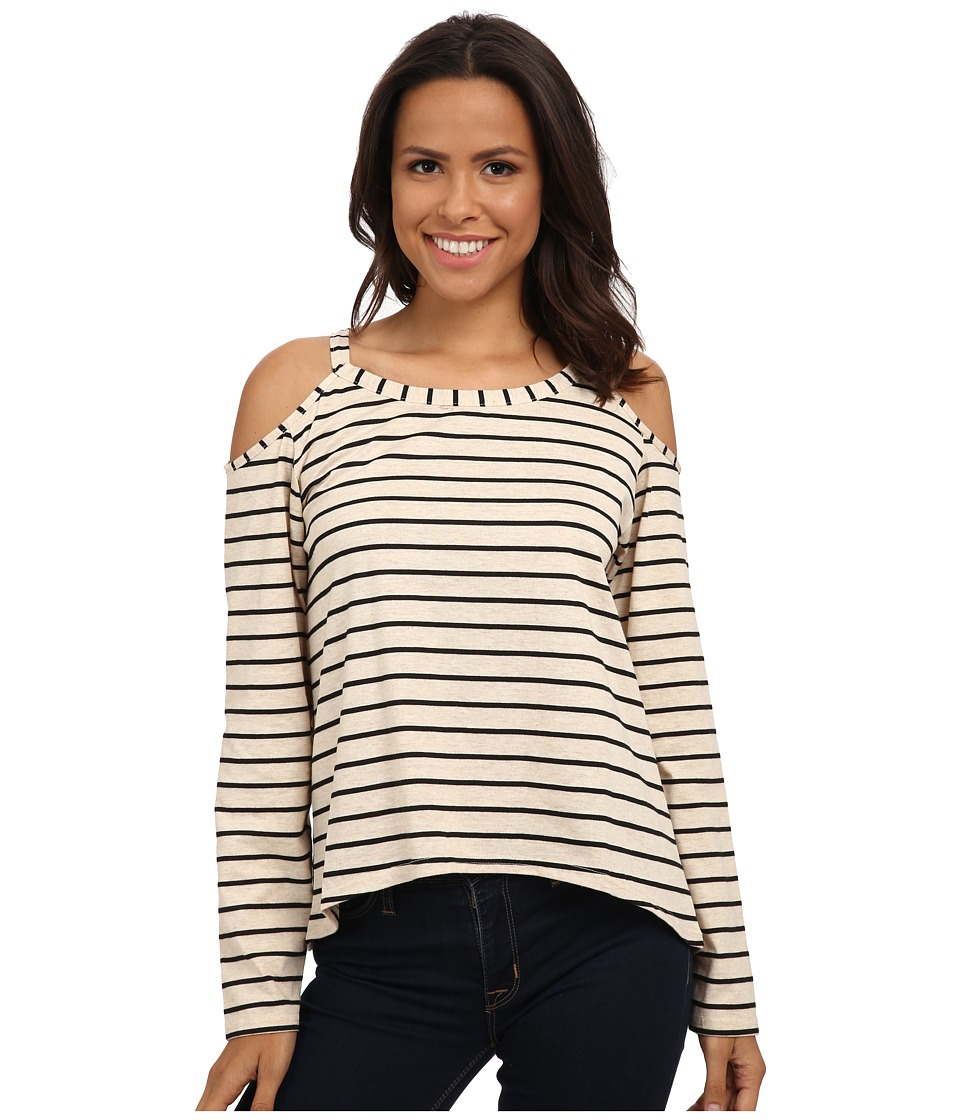 MINKPINK - Feels Right Long Sleeve Top (Black/Natural) Women