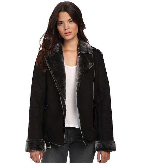 MINKPINK - Under Control Aviator Jacket (Black) Women's Coat