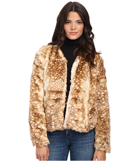 MINKPINK - Oh Deer Fur Coat (Multi) Women's Coat