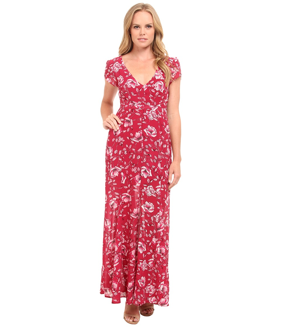 MINKPINK - Pretty Poppies Maxi Dress (Multi) Women