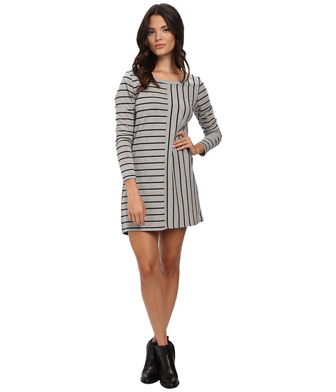 MINKPINK - Back To Basics Dress (Grey Stripe) Women