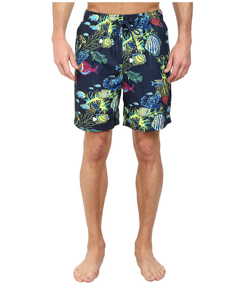 Nautica - Fish Print Trunk (Navy) Men's Swimwear