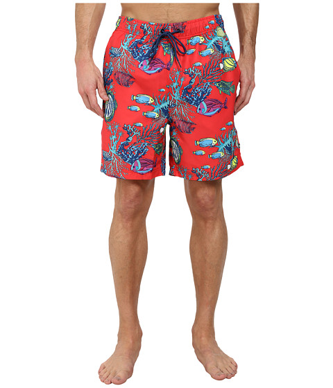 Nautica - Fish Print Trunk (Bitersweet) Men