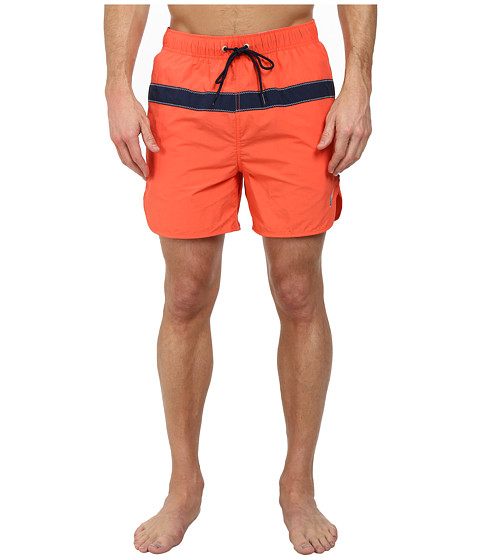 Nautica - Single Stripe Trunk (Shrimp) Men's Swimwear