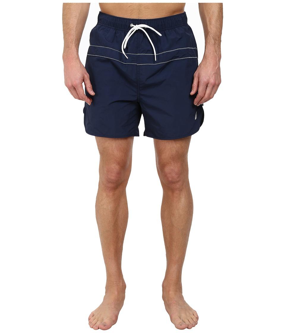 Nautica - Single Stripe Trunk (Dress Blues) Men