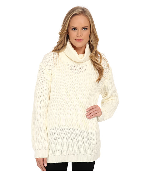 MINKPINK - Another Night Chunky Knit Sweater (Cream) Women's Sweater