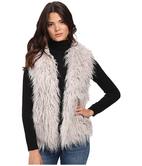 MINKPINK - Endless Shaggy Vest (Grey) Women