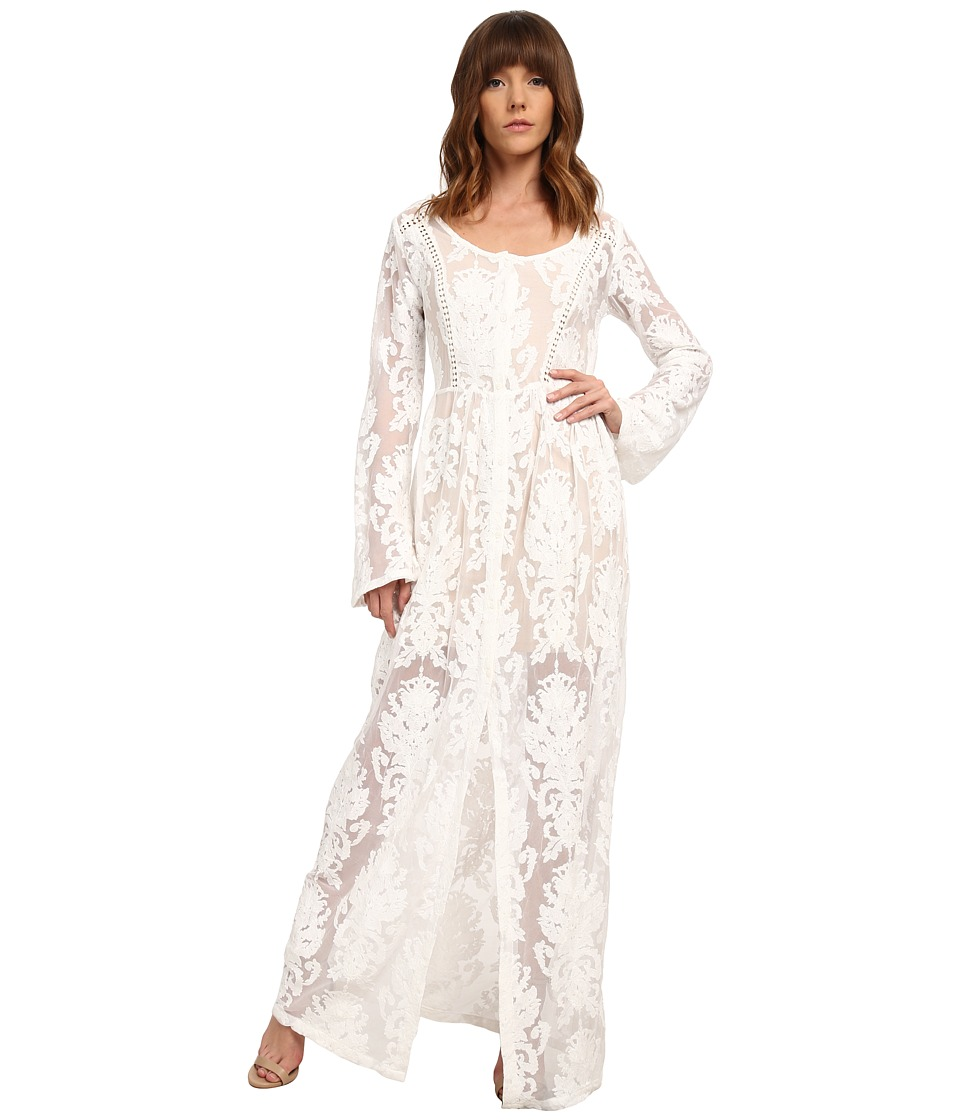 MINKPINK - Crime Of Passion Maxi Dress (Off White) Women's Dress