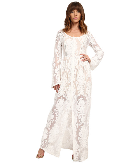 MINKPINK - Crime Of Passion Maxi Dress (Off White) Women