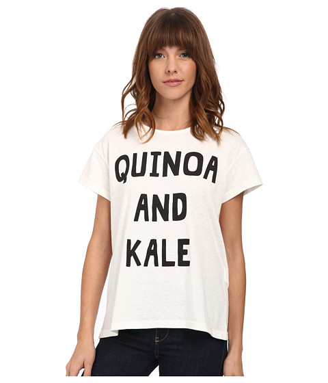 MINKPINK - Quinoa and Kale Tee (White) Women's T Shirt