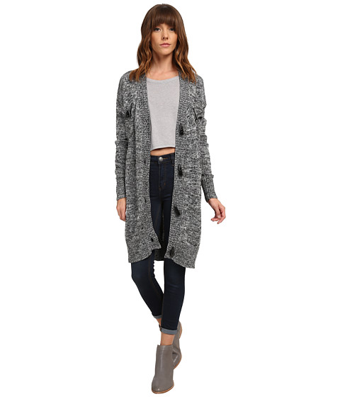 MINKPINK - Daybreakers Toggle Cardi (Salt/Pepper) Women's Sweater