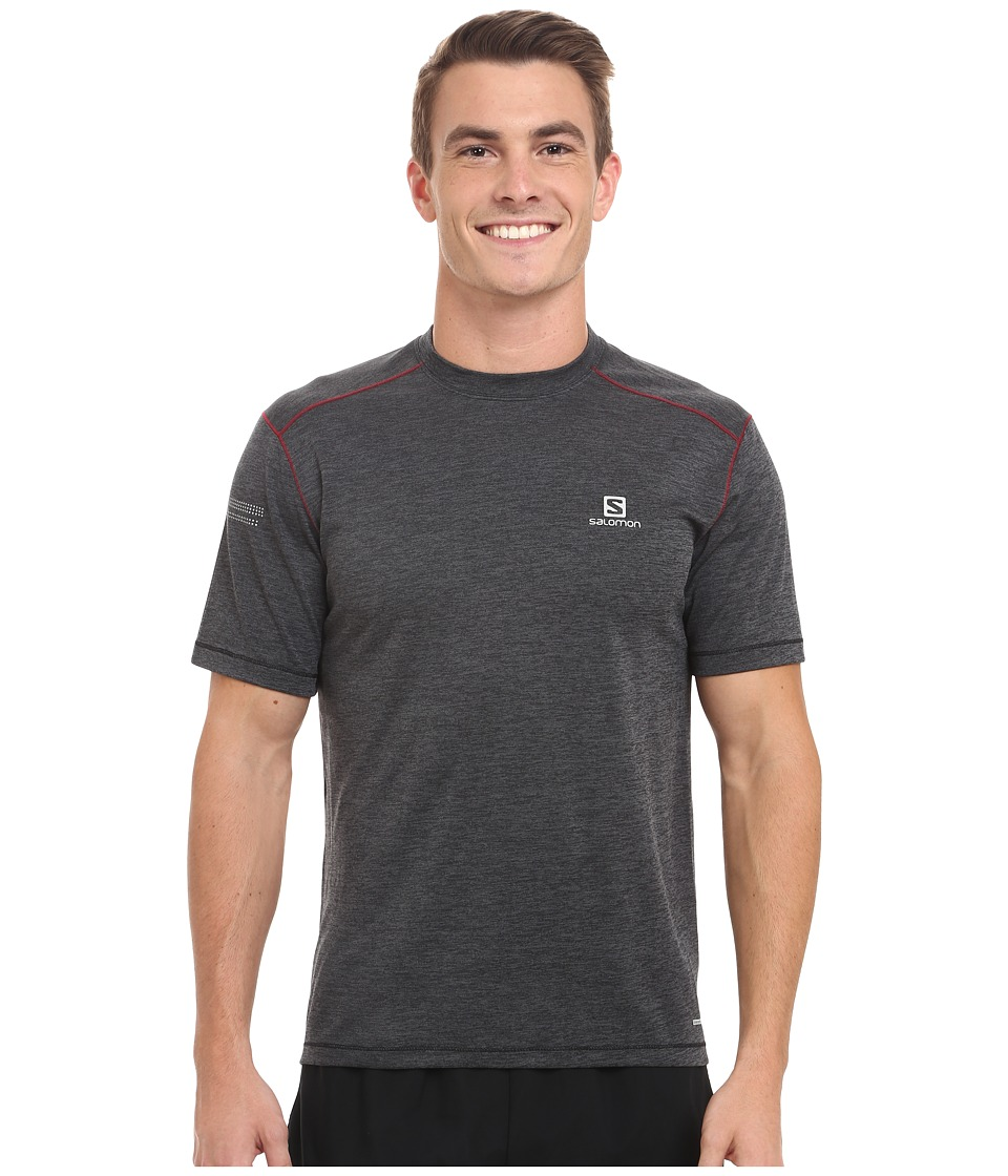 Salomon - Park Short Sleeve Tee (Black) Men's T Shirt