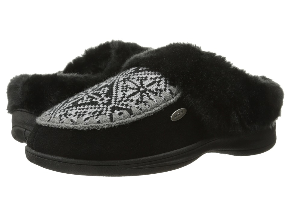 Acorn - Mt. Kineo Clog (Nordic/Black) Women's Slippers
