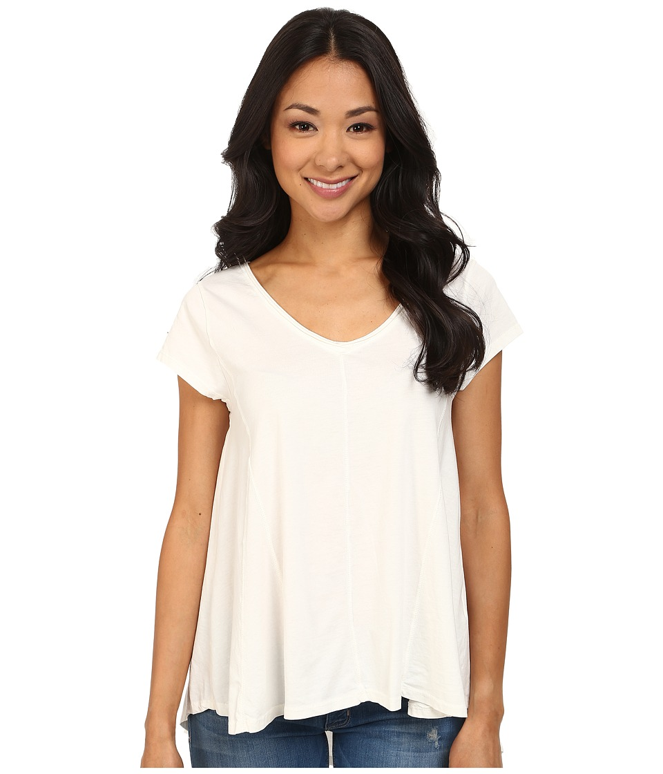 Dylan by True Grit - High-Low Stitches V-Neck Top (Perfect White) Women's Clothing