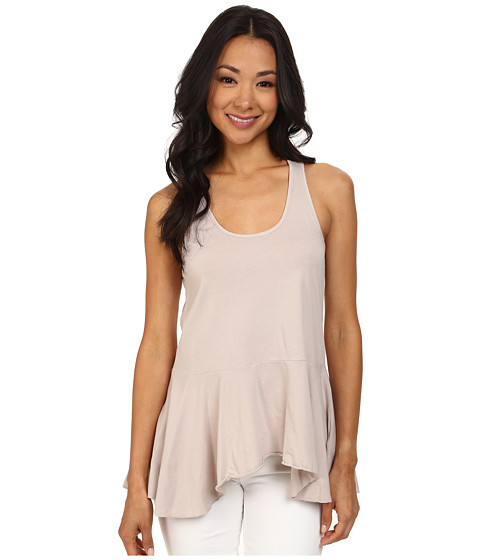 Dylan by True Grit - Racer Ruffle Tank Top (Icy Grey) Women's Sleeveless