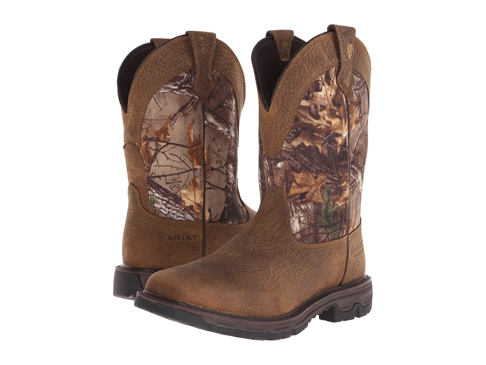 Ariat - Conquest Pull-On H2O (Brush Brown/Real Tree Xtra) Cowboy Boots