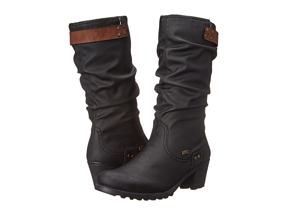 Rieker - Y8086 (Schwarz Belinga/Brandy Eagle) Women's Dress Boots