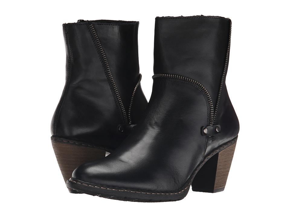 Rieker - Z1554 (Black Cristallino/Black Fino) Women's Dress Boots