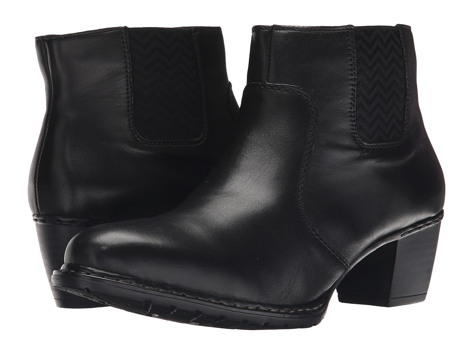 Rieker - Z0652 (Black Lugano) Women's Dress Boots