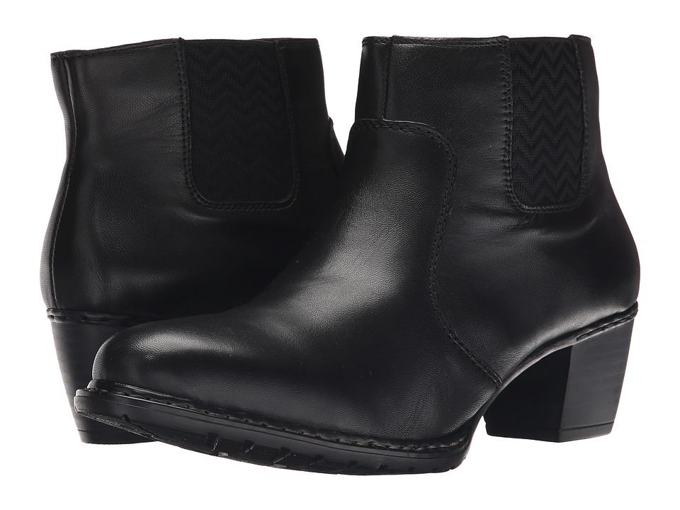 Rieker - Z0652 (Black Lugano) Women's Dress Boots