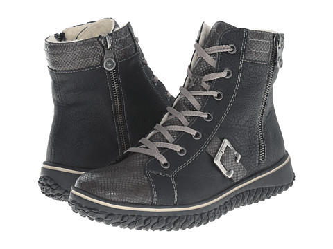 Rieker - Z4213 (Stromboli Amphib/Schwarz Greece) Women's Lace-up Boots