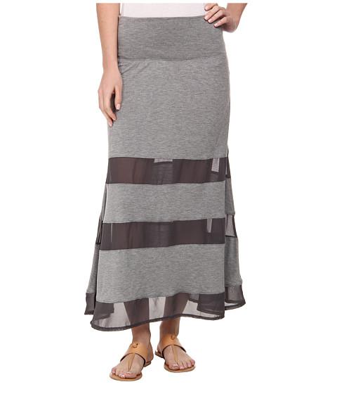 Dylan by True Grit - Peekaboo Skirt (Charcoal) Women