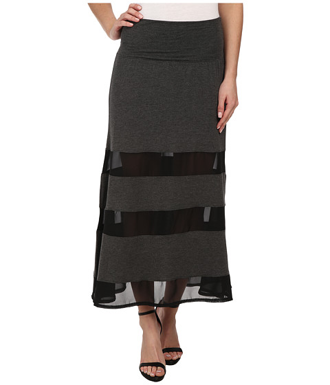 Dylan by True Grit - Peekaboo Skirt (Black) Women's Skirt
