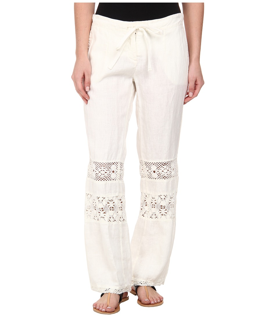 Dylan by True Grit - Cabos Crochet Trouser (Vintage Natural) Women's Casual Pants