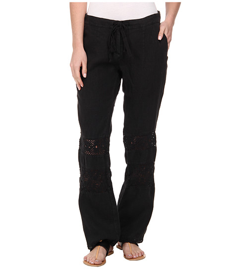 Dylan by True Grit - Cabos Crochet Trouser (Vintage Black) Women's Casual Pants