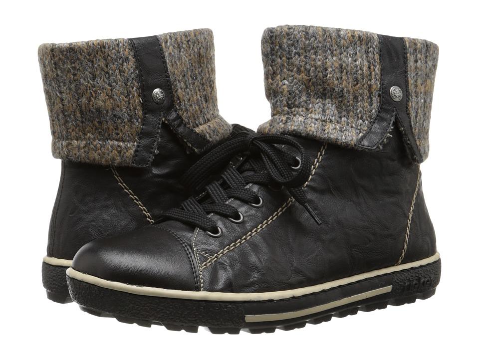 Rieker - Z8753 (Schwarz Fino/Schwarz Malta/Graphite Knit) Women's Dress Boots