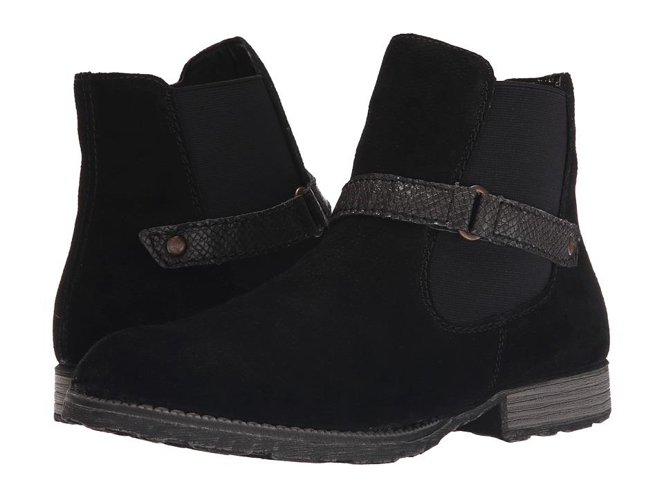 Rieker - Z9262 Luana 62 (Schwarz Togo/Stromboli Amphib) Women's Zip Boots