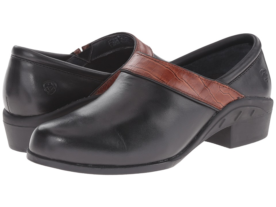 Ariat - Sport Clog (Black/Brown Croc) Women's Clog Shoes