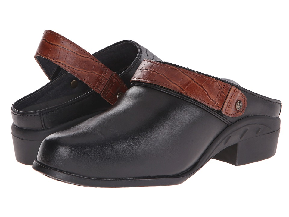 Ariat - Sport Mule (Black/Brown Croc) Women's Clog/Mule Shoes