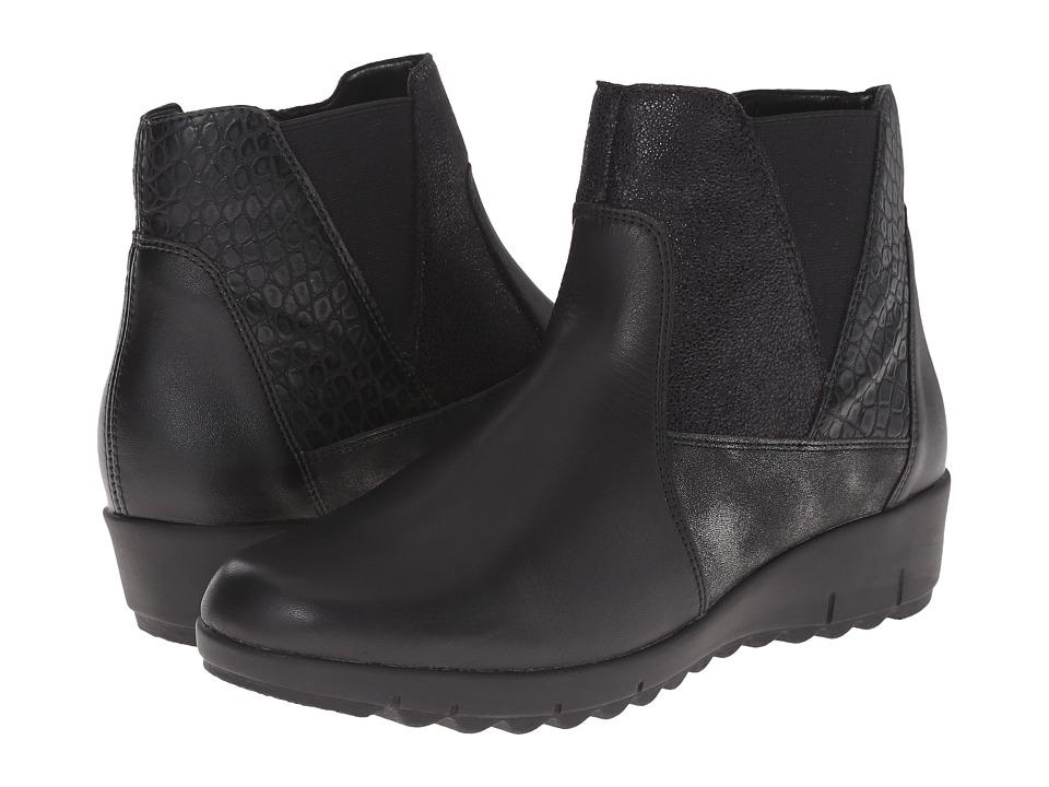 Rieker - D0278 (Schwarz Cristallino/Schwarz Fiesta/Graphite Olymp) Women's Dress Boots