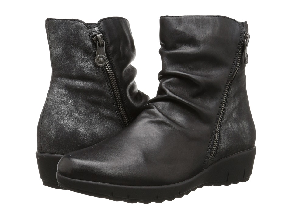 Rieker - D0274 (Schwarz Cristallino/Graphite Olymp) Women's Dress Boots