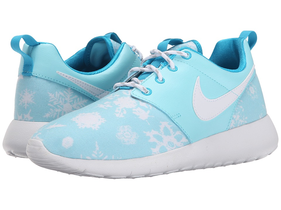 Nike Kids - Roshe One Print (Big Kid) (Copa/Blue Lagoon/White) Girls Shoes