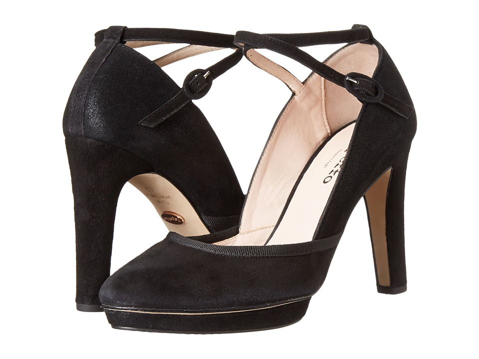 Repetto - Onora (Metallic Suede Black) Women's Shoes